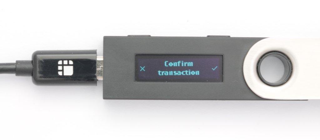 Ledger Nano S Verify Transaction