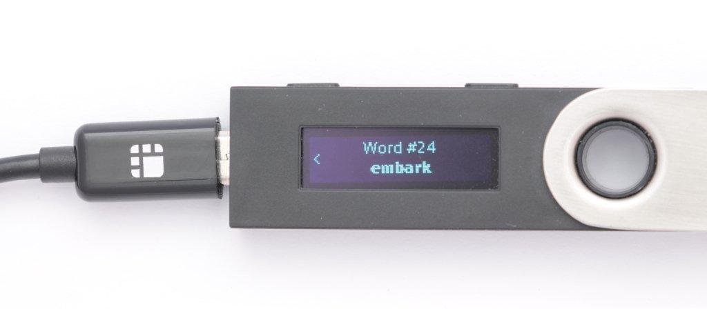 Ledger Nano S Recovery phrase Word 24