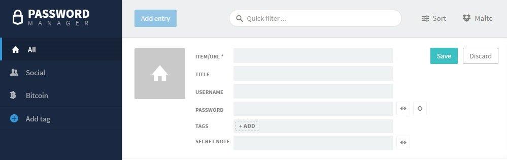 Trezor Passwort Add New