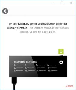 KeepKey Backup