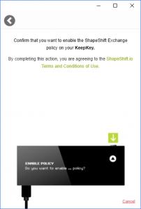 KeepKey Shapeshift erlauben