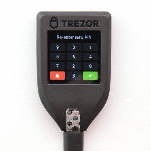 TREZOR T neuen Pin wiederholen
