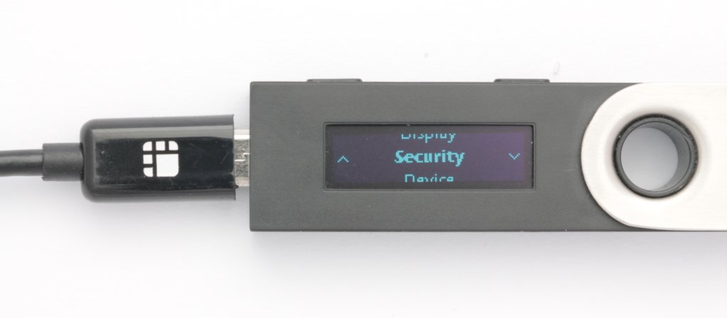 Ledger Nano S security settings