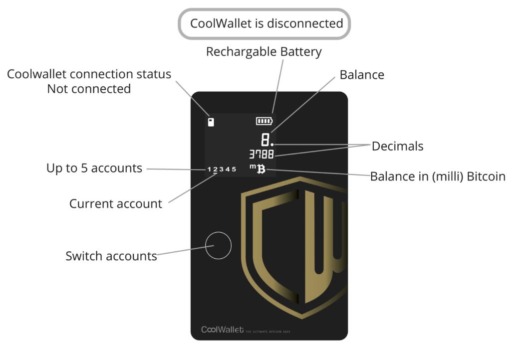 CoolWallet Icons Bedeutung nicht verbunden