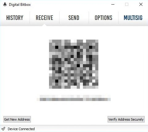 Digital Bitbox Bitcoins erhalten