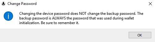 Digital Bitbox Passwort ändern