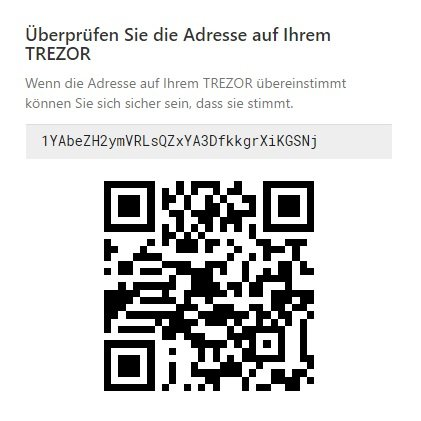 Check Trezor Receive Address