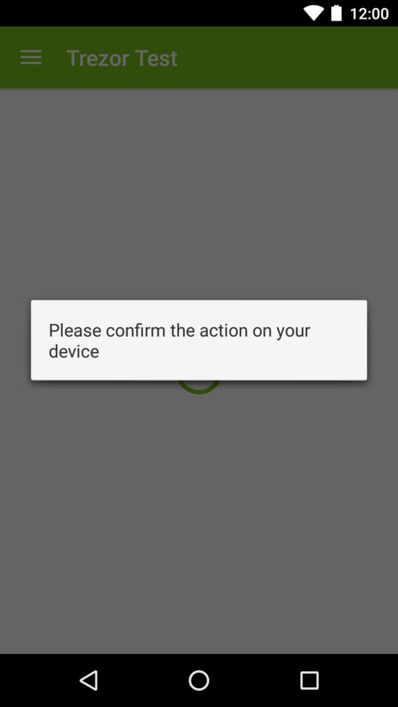 Trezor Mobil Aktion zustimmen