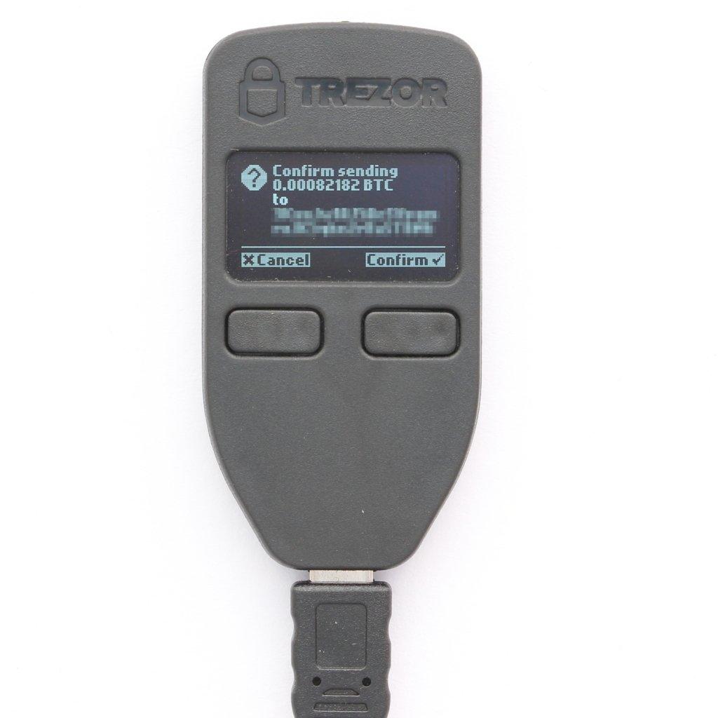 Trezor Senden Bestätigen Hardware Wallet
