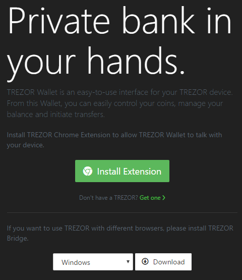 Trezor Wallet Installation