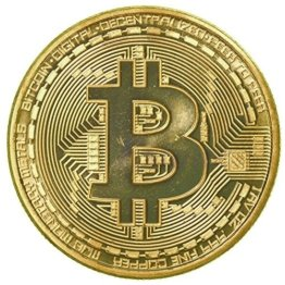 rexul (TM) 1 x vergoldet Bitcoin Münze Collectible BTC Medaille Art Collection Geschenk Physikalische -