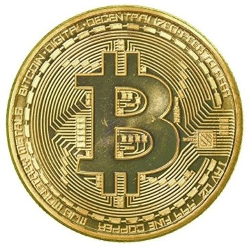 rexul (TM) 1x vergoldet Bitcoin Münze Collectible BTC Medaille Art Collection Geschenk Physikalische -
