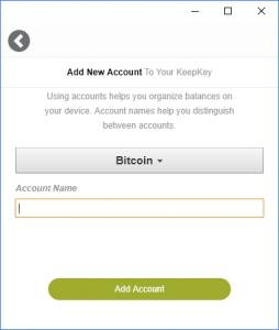 KeepKey Konto hinzufügen