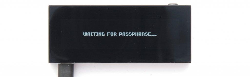 KeepKey Passphrase eingeben