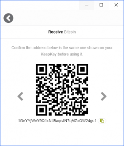 KeepKey Wallet Bitcoin Empfangen