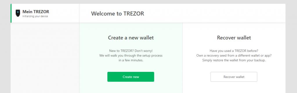 TREZOR einrichten wallet erstellen